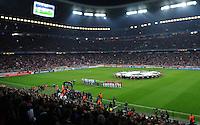 FUSSBALL   CHAMPIONS LEAGUE  VIERTELFINAL RUECKSPIEL   2011/2012      FC Bayern Muenchen - Olympic Marseille          03.04.2012 Ubersicht der Allianz Arena