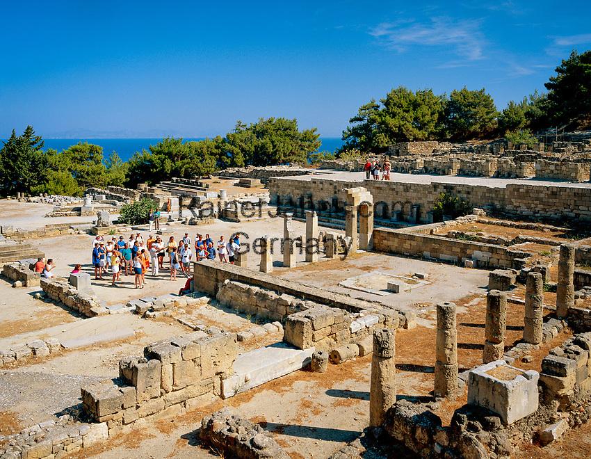 Griechenland, Dodekanes, Rhodos, Kamiros (oder Kameiros): eine der drei Staedte des antiken Rhodos   Greece, Dodekanes, Rhodes, Kamiros (or Kameiros): Ruins of Classical Greek City
