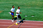 Prática de atletismo na Universidade da Califórnia, UCLA em Los Angeles. EUA. 1990. Foto de Juca Martins.