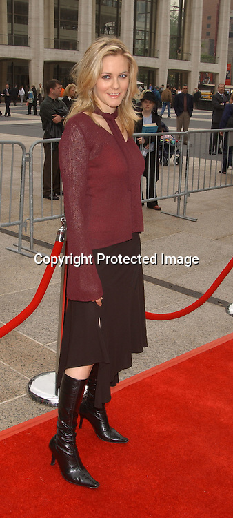 Alicia Silverstone                                      ..at the NBC Upfront announcement of their new shows ..on May 12,2003 at the Metropolitan Opera House ...Photo by Robin Platzer, Twin Images