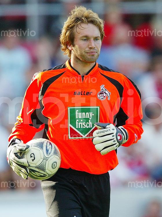 Fussball  1. Bundesliga Saison 2003/2004   6. Spieltag 1. FC Koeln - VfL Wolfsburg 2:3            Stefan WESSELS (Koeln) ist enttaeuscht