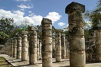 Templo de los Guerreros y de las 1000 Columnas.<br /> Zona arqueologica de Chichen Itza Zona arqueol&oacute;gica  <br /> Chich&eacute;n Itz&aacute;Chich&eacute;n Itz&aacute; maya: (Chich&eacute;n) Boca del pozo; <br /> de los (Itz&aacute;) brujos de agua. <br /> Es uno de los principales sitios arqueol&oacute;gicos de la <br /> pen&iacute;nsula de Yucat&aacute;n, en M&eacute;xico, ubicado en el municipio de Tinum.<br /> *Photo:*&copy;Francisco* Morales/DAMMPHOTO.COM/NORTEPHOTO<br /> * No * sale * a * third *