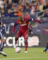 Real Salt Lake midfielder Andy Williams (77) traps the ball. Real Salt Lake defeated the New England Revolution, 2-1, at Gillette Stadium on October 2, 2010.