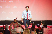 23rd Prime Minister of Canada, the Right Honorable Justin Trudeau delivers a Keynote Address during the final day of the Liberal Biennial Convention at the RBC Convention Centre Saturday May 28, 2016 in Winnipeg.<br /> (David Lipnowski / Agence Qu&eacute;bec Presse)