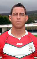 PICTURE BY IAN LOVELL/WRL...Rugby League - Wales Rugby League Headshots 2011 - 21/10/11...Wales Andy Bracek.