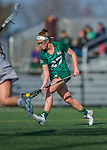 30 March 2016: Manhattan College Jasper Attacker/Midfielder Kara Hodapp, a Sophomore from Oak Ridge, NJ, in action against the University of Vermont Catamounts at Virtue Field in Burlington, Vermont. The Lady Cats defeated the Jaspers 11-5 in non-conference play. Mandatory Credit: Ed Wolfstein Photo *** RAW (NEF) Image File Available ***
