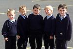 James Burke, Glen Finnegan, Ryan Finnegan, Sam Aktinston and Darren Arnold who started school in Duleek B.N.S..Picture Paul Mohan Newsfile