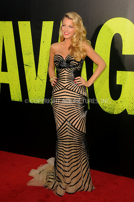WWW.ACEPIXS.COM . . . . .  ....June 25 2012, LA....Actress Blake Lively arriving at the premiere of ' 'Savages' at Westwood Village on June 25, 2012 in Los Angeles, California....Please byline: PETER WEST - ACE PICTURES.... *** ***..Ace Pictures, Inc:  ..Philip Vaughan (212) 243-8787 or (646) 769 0430..e-mail: info@acepixs.com..web: http://www.acepixs.com