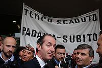 Vicenza: Luca Zaia durante la seduta del cosiddetto parlamento della Padania alla fiera di Vicenza