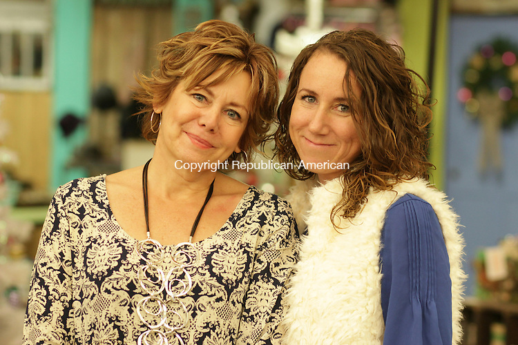 WOODBURY, CT: 17 Nov. 15: 181115CB02: WOODBURY -- Debra Germain (left) owns the boutique Maison St. Germain with her daughter, Nicole Perez. Caleb Bedillion Republican-American