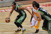 MEDELLÍN -COLOMBIA-16-08-2013. Aspecto del partido entre Academia de al Montaña y Caribbean heat de Cartagena en la fecha 1 Liga DirecTV de Baloncesto 2013-II de Colombia realizado en el coliseo de la Universidad de Medellín./ Aspect of match between Academia de la Montaña and Caribbean Heat de Cartagena on the 1th date of  DirecTV Basketball League 2013-II in Colombia at Universidad de Medellin coliseum.  Photo:VizzorImage/Luis Ríos/STR