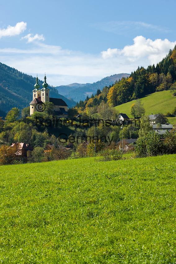 Austria, Styria, Radmer an der Stube: with pilgrimage church Saint Anthony of Padua | Oesterreich, Steiermark, Radmer an der Stube: mit Wallfahrtskirche zum heiligen Antonius von Padua