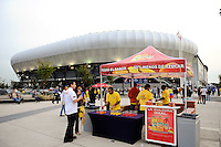 Red Bull Arena. The men's national team of the United States (USA) was defeated by Ecuador (ECU) 1-0 during an international friendly at Red Bull Arena in Harrison, NJ, on October 11, 2011.