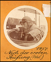 BNPS.co.uk (01202 558833)<br /> Pic: Ratisbons/BNPS<br /> <br /> Pilot Emil Buge training in 1917.<br /> <br /> A personal archive belonging to a hero German pilot of the First World War who fought to bring down the Nazis in the second has been discovered.<br /> <br /> Emil Buge flew on 37 sorties against the British on the Western Front, dropping 27 bombs, 128 grenades and firing 9,500 rounds of ammunition.<br /> <br /> Despite his heroics in 1918, Buge was imprisoned at a murderous concentration camp by his own country in the Second World War as a political prisoner. He used his position as an inmate clerk to gather evidence of SS atrocities.