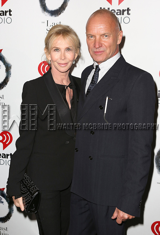 Trudie Styler and Sting attend the Broadway Opening Night performance of 'The Last Ship' at the Neil Simon Theatre on October 26, 2014 in New York City.