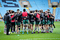 5th January 2020; Ricoh Arena, Coventry, West Midlands, England; English Premiership Rugby, Wasps versus Northampton Saints; Northampton Saints huddle in the warm-up prior to the match - Editorial Use