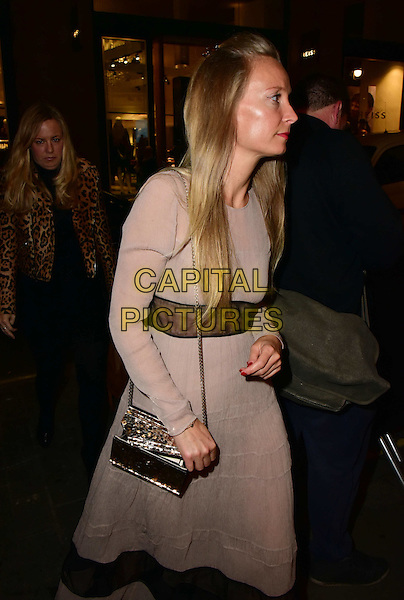 Martha Ward arrives for the premiere of the Burberry festive film at Burberry on November 3, 2015 in London, England.<br /> CAP/JOR<br /> &copy;JOR/Capital Pictures