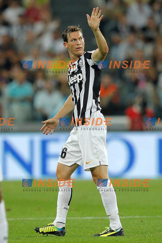 Stephan Lichtsteiner Juventus,<br /> Torino 31-08-2013<br /> Juventus Stadium <br /> Football Calcio 2013/2014 Serie A <br /> Juventus - Lazio <br /> Foto Marco Bertorello Insidefoto