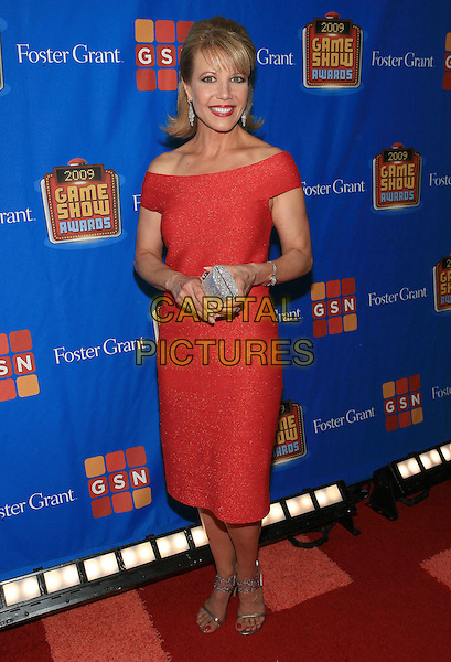 HEIDI BOHAY.GSN's First Ever Game Show Awards hosted by Howie Mandel held at the Wilshire Theatre, Beverly Hills, CA, USA.May 16th, 2009.full length red off the shoulder dress clutch bag silver .CAP/ADM/TC.©T. Conrad/AdMedia/Capital Pictures.