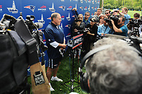 June 7, 2017: New England Patriots head coach Bill Belichick holds a press conference at the New England Patriots mini camp held on the practice field at Gillette Stadium, in Foxborough, Massachusetts. Eric Canha/CSM