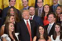 Donald Trump Poses with White House Interns