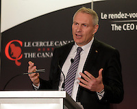 montreal, canada, april 27, 2015.<br /> <br /> François Olivier, President & CEO of Transcontinental Inc. <br /> deliver a speech to the Canadian Club of Montreal.<br /> <br /> Photo : Pierre Roussel - Agence Quebec Presse