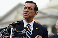 October 9, 2013  (Washington, DC) Rep Darrell Issa (R-CA) during a news conference at the Capitol on freeing D.C.'s budget from the shutdown.  (Photo by Don Baxter/Media Images International)