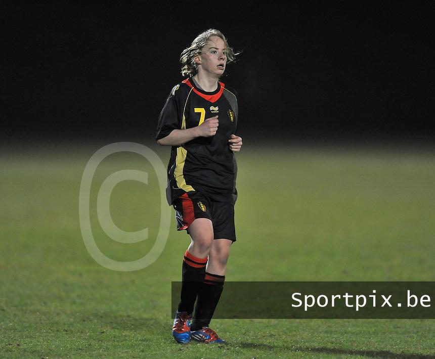 Belgium Dames U19 - selectie brabant jongens U15 :  Lotte Michiels.foto DAVID CATRY / Vrouwenteam.be
