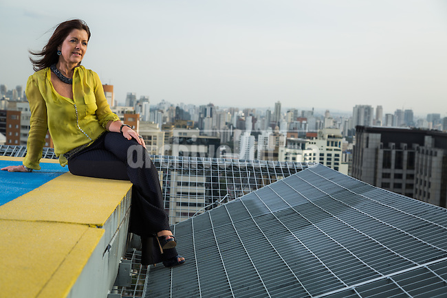 Sao Paulo  21/05/2014<br /> Famous Brazilian architect  Moema Wertheimer at her office in Sao Paulo.<br /> <br /> Photos: Fernando Cavalcanti/Archivolatino