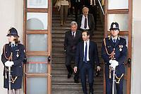 06/05/2013 Milano: Carlo Sangalli e Giuseppe Sala per l'incontro con il Presidente del Consiglio Enrico Letta