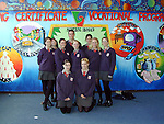 6th Year LCVP Students who are working on a murial to commemerate the 25th Anniversary of Ardee Community School..Picture Paul Mohan Newsfile