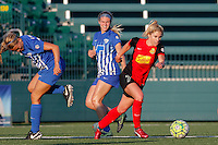 Rochester, NY - Friday June 24, 2016: Western New York Flash midfielder McCall Zerboni (7) during a regular season National Women's Soccer League (NWSL) match between the Western New York Flash and the Boston Breakers at Rochester Rhinos Stadium.