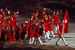 Olympic team of Switzerland during the parade of nations at the Opening ceremony of the 2014 Sochi Olympic Winter Games at Fisht Olympic Stadium on February 7, 2014 in Sochi, Russia. Photo by Victor Fraile / Power Sport Images