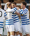 Morton's Peter MacDonald celebrates after he scored their 2nd.