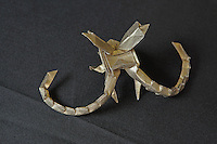 OrigamiUSA Convention 2015 Exhibition. OBC - Origami by Children - section. Golden Long Horned Beetle designed and folded by Tom Hougen, 12, IL.