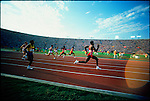 200m, Carl Lewis (USA), gold. Summer Olympics, Los Angeles, California, USA, August 1984