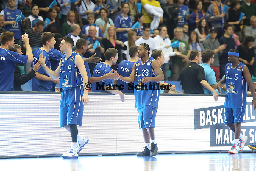 Skyliners schwoeren sich ein - Fraport Skyliners vs. EWE Baskets Oldenburg, Fraport Arena Frankfurt