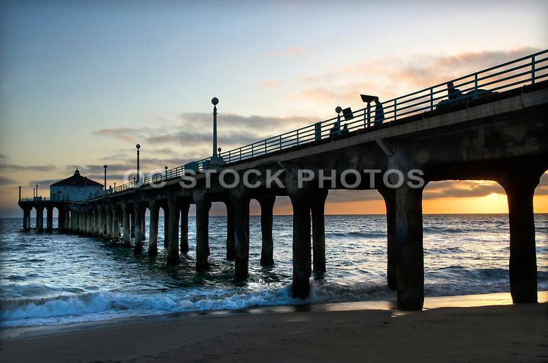 Manhattan Beach Pier at Sunset