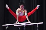 Kenta Chiba (JPN), <br /> AUGUST 20, 2018 - Artistic Gymnastics : Men's Individual All-Around Parallel Bars at JIEX Kemayoran Hall D during the 2018 Jakarta Palembang Asian Games in Jakarta, Indonesia. <br /> (Photo by MATSUO.K/AFLO SPORT)