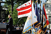 United States President Barack Obama speaks at a memorial for the victims of the Washington Navy Yard shooting at the Marine Barracks, September 22, 2013 in Washington, D.C..The President and First Lady also visited with families of the victims. <br /> Credit: Olivier Douliery / Pool via CNP