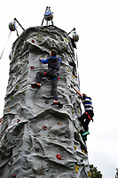 Climbing wall. Aviva Premiership match, between Bath Rugby and Saracens on September 9, 2017 at the Recreation Ground in Bath, England. Photo by: Patrick Khachfe / Onside Images