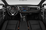 Stock photo of straight dashboard view of 2016 Toyota RAV4 SE 5 Door SUV Dashboard