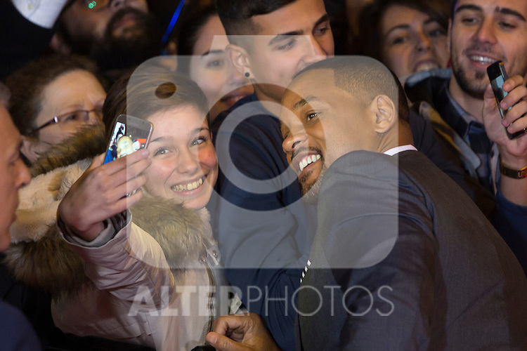 US actor Will Smith attends `La verdad duele´ (Concussion) film premiere at Callao cinema in Madrid, Spain. January 27, 2015. (ALTERPHOTOS/Victor Blanco)