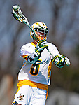 3 April 2010: University of Vermont Catamounts' Attacker/Midfielder Jack Cranston, a Freshman from Coto de Caza, CA, in action against the Binghamton University Bearcats at Moulton Winder Field in Burlington, Vermont. The Catamounts defeated the visiting Bearcats 11-8 in Vermont's opening home game of the 2010 season. Mandatory Credit: Ed Wolfstein Photo