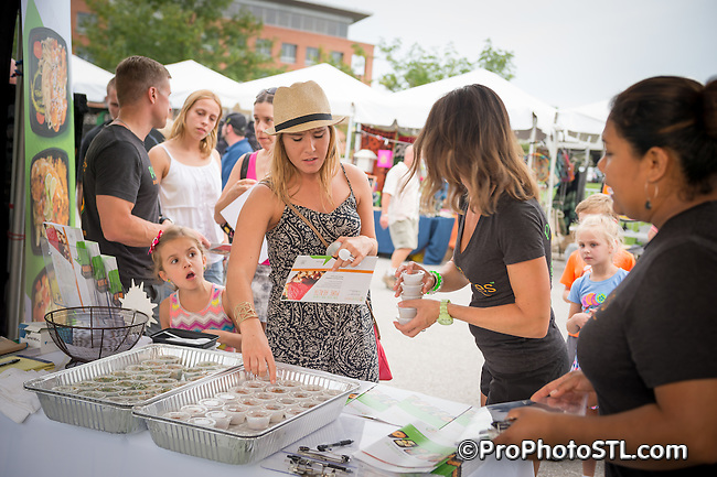 Taste of St. Louis food sampling event in Chesterfield, Missouri on Sep 18, 2015.