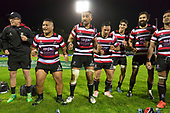 Mitre 10 Cup game between Counties Manukau Steelers and Tasman Mako's, played at ECOLight Stadium Pukekohe on Saturday October 14th 2017. Counties Manukau won the game 52 - 30 after trailing 22 - 19 at halftime. <br /> Photo by Richard Spranger.