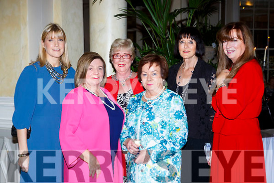 Jacquelin Daly, Teresa Irwin, Mary O'connor, Maureen Somers, Deloas Daly and Anne Geiler at the Killarney Rotary afternoon tea fashion show in the Malton Hotel on Saturday,