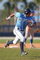 SCF Manatees outfielder Paul Stortini #6 during a game vs. Indian River State College at Robert C. Wynn Field in Bradenton, Florida;  February 22, 2011.  SCF defeated Indian River 3-0.  Photo By Mike Janes/Four Seam Images