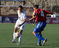 Luis Gil dribbles the ball. The Under-17 US Men's National Team defeated Cuba 5-0 at the 2009 CONCACAF Under-17 Championship April 21, 2009 in Tijuana, Mexico.