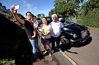 VIDEO AVAILABLE<br /> Pictured: Time for a selfie...Kai Huang holds his eldest son Tony and his partner Qiuxia Chen who gave birth to their son 'Loeo' in the back of a Swansea taxi cab, pictured with cabby Steve Storton. Baby Loeo was born at 6.45 on Sunday evening  in Sketty, Swansea on their way to hospital.<br /> Re: When taxi driver Stephen Storton embarked on his evening shift, he didn't expect one of his customers to give birth in the back of his car.<br /> But that is exactly what happened when the Data Cabs driver picked up Chinese pair Kai Huang and Quix India.<br /> He said he had never seen anything like it after years working as a taxi driver.<br /> &quot;It came up on the computer that there was a taxi booked in Townhill for 6.30pm so off I went.<br /> &quot;When I got there a guy came out and said that his wife was in labor.<br /> &quot;When I was driving to the hospital she screamed that the baby was coming and that she could feel the head.<br /> &quot;I then pulled over by the side of Vivian Road in Sketty and the baby was born at 6.45pm.&quot;<br /> The baby's father Kai Huang described the moment he &quot;freaked out&quot; when his wife Quixia Chen gave birth to their son He said: &quot;I was really scary, I freaked out.<br /> &quot;My wife started experiencing some painful contractions so we phoned the hospital and they told us to get her to the hospital immediately.<br /> &quot;We then phoned a taxi and it arrived within five minutes.<br /> &quot;The baby came really quickly and half way to the hospital the driver had to pull over as the baby was born before the ambulance arrived.<br /> &quot;Both mother and baby are healthy now and the baby is called Loeo.&quot;
